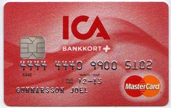 ICA bankkort plus Mastercard