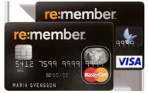re:member Visa eller Mastercard